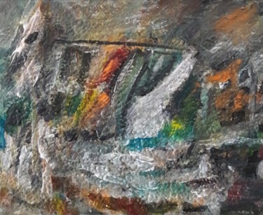 Abstract Painting, acrylic, impressionism, artwork by Sam Keusseyan