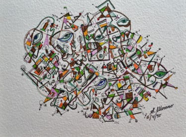 Drawing, abstract, artwork by Salvador  Moreno