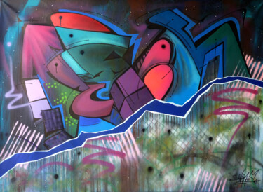 """Painting titled """"Fish 10"""" by Saname, Original Art, Spray paint"""
