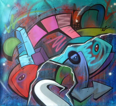 """Painting titled """"Fish 11"""" by Saname, Original Art, Spray paint"""