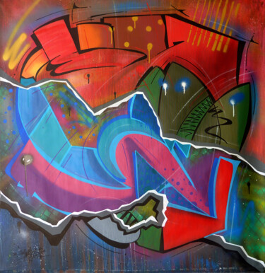 """Painting titled """"Fish 12"""" by Saname, Original Art, Spray paint"""