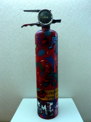 """Painting titled """"Fire"""" by Saname, Original Art, Spray paint"""