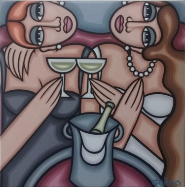 """Painting titled """"Collier pour une so…"""" by Guena, Original Art, Acrylic"""