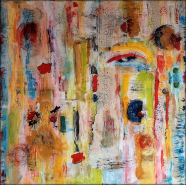Color Painting, acrylic, abstract, artwork by Hans Werner Schneider (Sanferan)