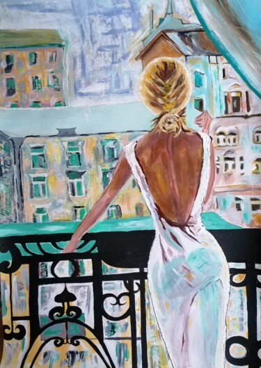 """Painting titled """"View from the balco…"""" by Sanja Jancic, Original Art, Acrylic"""