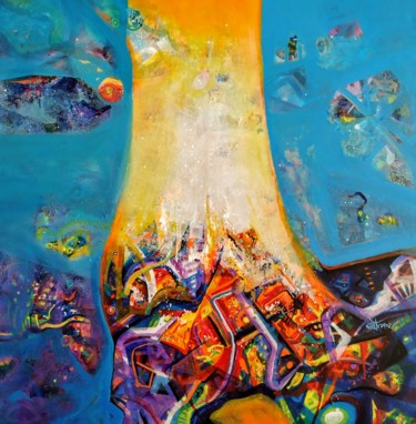 Abstract Painting, acrylic, expressionism, artwork by Sanjay Punekar