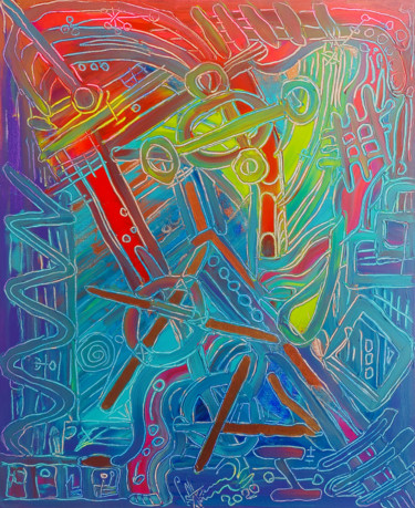 """Painting titled """"Bronze Dance"""" by Andrey Savchenko, Original Art, Acrylic Mounted on Stretcher frame"""