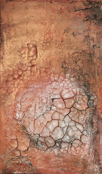 """Painting titled """"Bronze 1"""" by Silvia Schuessler, Original Art, Pigments"""