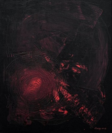 """Painting titled """"Rouge et noir"""" by Sculpeinte Concept Dany, Original Art, Acrylic Mounted on Stretcher frame"""