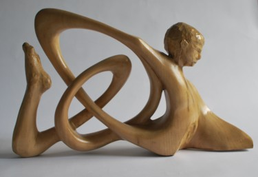 Abstract Sculpture, wood, abstract, artwork by Christophe Lm