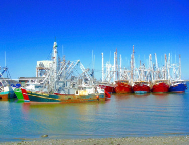 """Photography titled """"Cape May Harbor Fis…"""" by Stephen D. Smith, Original Art, Digital Photography"""