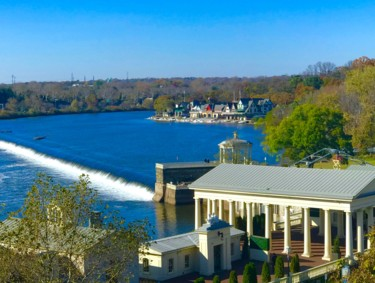 """Photography titled """"Boathouse Row from…"""" by Stephen D. Smith, Original Art, Digital Photography"""