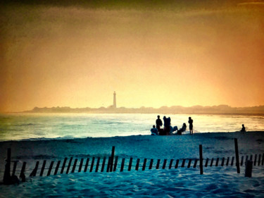 """Photography titled """"Dusk at Cape May Po…"""" by Stephen D. Smith, Original Art, Digital Photography"""