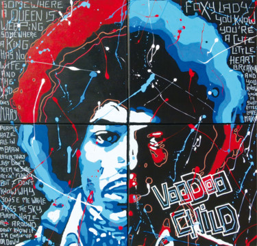 """Painting titled """"VOODOO CHILD"""" by Secam, Original Art, Acrylic Mounted on Stretcher frame"""