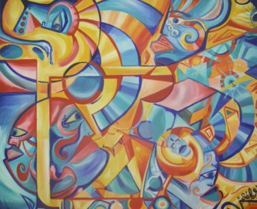 """Painting titled """"tribe-session"""" by Sely, Original Art,"""