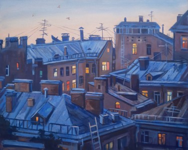 Architecture Painting, oil, figurative, artwork by Семён Нестерков