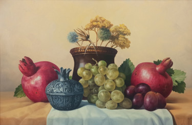 """Painting titled """"Still life with aut…"""" by Sergey Miqayelya, Original Art, Oil Mounted on Stretcher frame"""