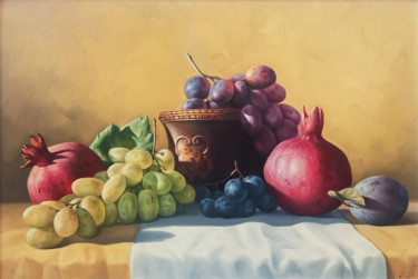 """Painting titled """"Still life with col…"""" by Sergey Miqayelya, Original Art, Oil Mounted on Stretcher frame"""
