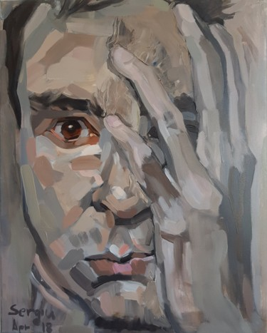 """Painting titled """"Attention deficit"""" by Sergiu Moise, Original Art, Oil Mounted on Stretcher frame"""