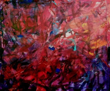 """Painting titled """"The Red Picture"""" by Sergej Jakovlev, Original Art,"""