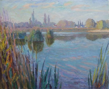 Landscape Painting, oil, impressionism, artwork by Serhiy Vutyanov