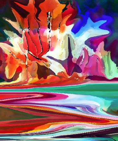 Digital Arts, acrylic, abstract, artwork by Seshadri
