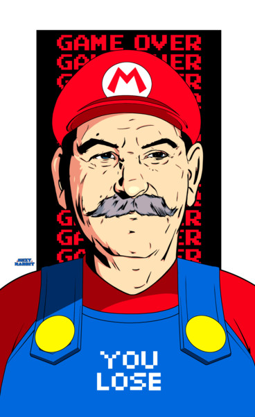"""Drawing titled """"Staline Mario ( You…"""" by Sexy Rabbit, Original Art, Digital Photography"""