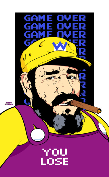 """Drawing titled """"Fidel Wario ( You L…"""" by Sexy Rabbit, Original Art, Digital Photography"""