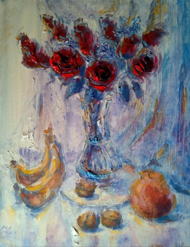 """Painting titled """"With Grapefruit, Ba…"""" by Alex Klas, Original Art, Oil Mounted on Stretcher frame"""