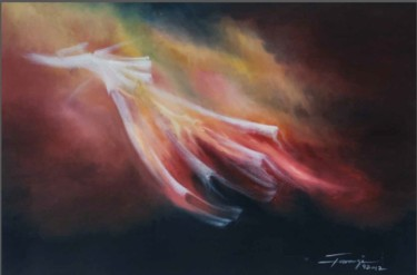 """Painting titled """"Whirling Dervishes 4"""" by Shafique Farooqi, Original Art, Oil"""