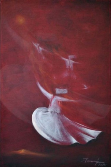"""Painting titled """"Whirling Dervishes24"""" by Shafique Farooqi, Original Art, Oil"""