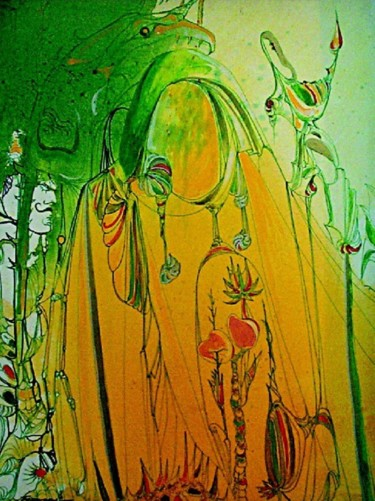 """Painting titled """"Journey of Line2"""" by Shafique Farooqi, Original Art, Watercolor"""