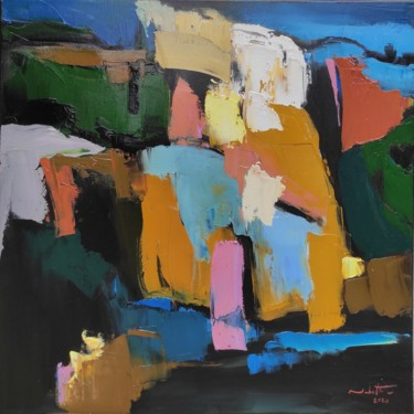Color Painting, oil, abstract, artwork by Shahram Nabati