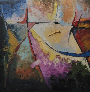 Abstract Painting, oil, abstract, artwork by Shahram Nabati