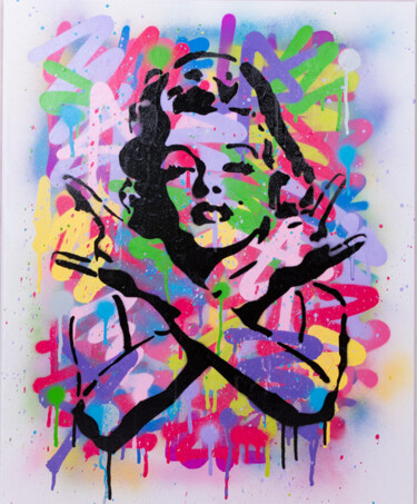 """Painting titled """"MarilynRock"""" by Shake, Original Art, Spray paint"""