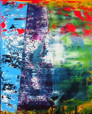 """Painting titled """"Colorful abstractio…"""" by Shamanov Vadim, Original Art, Oil"""