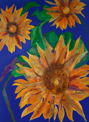 """Painting titled """"Sunflowers"""" by Shan Roberts, Original Art, Acrylic"""