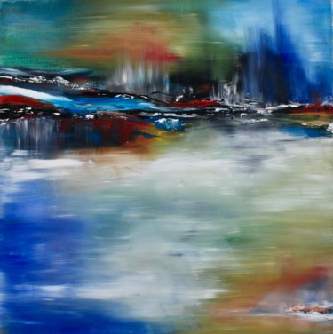 """Painting titled """"Abstract spring for…"""" by Elmira Sharipova, Original Art, Oil Mounted on Stretcher frame"""