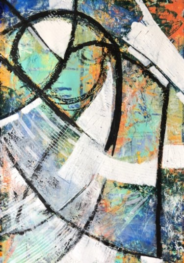 Painting, acrylic, abstract, artwork by Sharon Goldsack