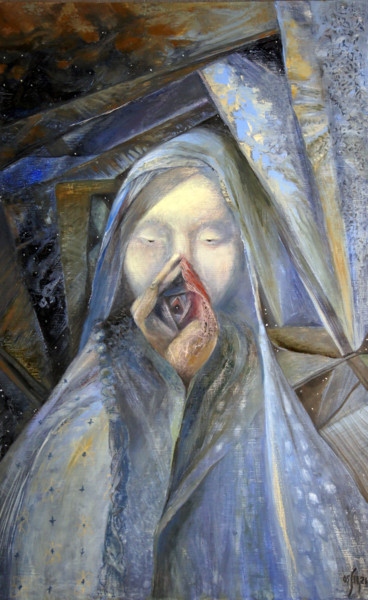 Women Painting, oil, symbolism, artwork by Maria Shedrina