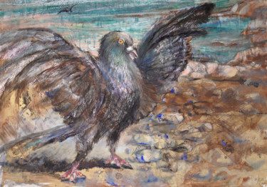 """Painting titled """"BUT I CAN FLY! - or…"""" by Maria Shedrina, Original Art, Acrylic"""