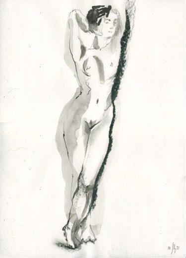 """Painting titled """"Vera. Nude art #214…"""" by Maria Shedrina, Original Art, Ink"""