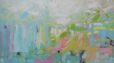 """Painting titled """"Cold geyser"""" by Andria Shengelia, Original Art, Oil"""
