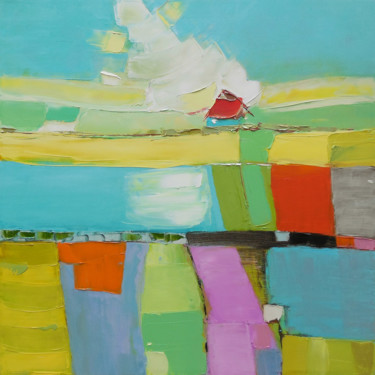 """Painting titled """"Flower Fields"""" by Andria Shengelia, Original Art, Oil"""