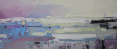 """Painting titled """"Northern Dunes"""" by Andria Shengelia, Original Art, Oil"""