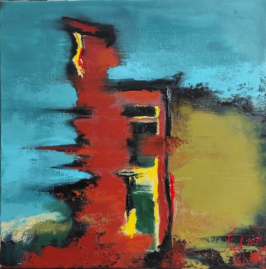 Color Painting, oil, abstract, artwork by Farkhondeh Sheibanikia (Farah)