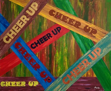 """Painting titled """"cheer up"""" by So Hyon Kim, Original Art, Acrylic"""