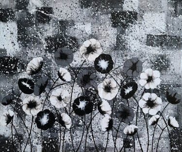 """Painting titled """"memory of flowers3"""" by So Hyon Kim, Original Art, Acrylic"""