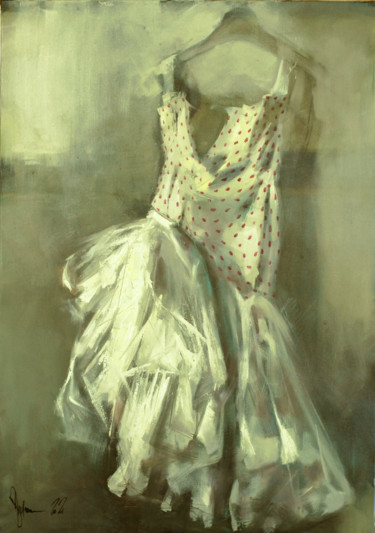"""Painting titled """"Dream about a dress."""" by Shulman, Original Art, Oil"""
