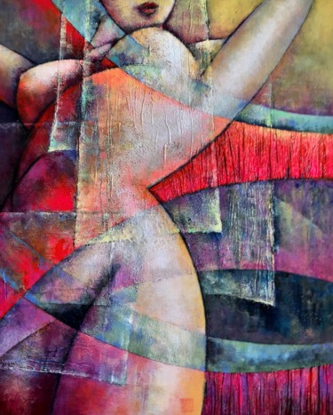 Painting, collages, figurative, artwork by Sibilla Bjarnason